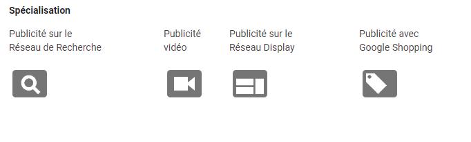 spécialisations Google Ads